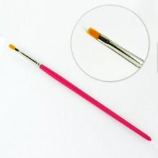 Кисть для геля/акриловых красок СИНТЕТИКА № 4 (прямоугольная)